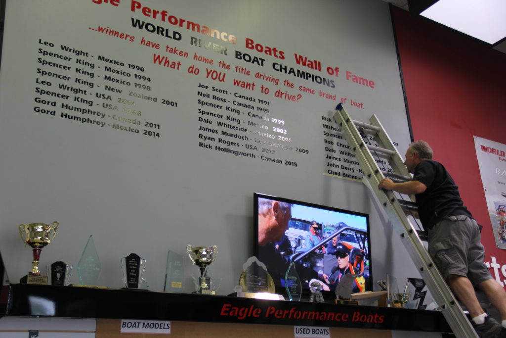 2016 World Jet Boat Champion Wall Of Fame Chad Burns