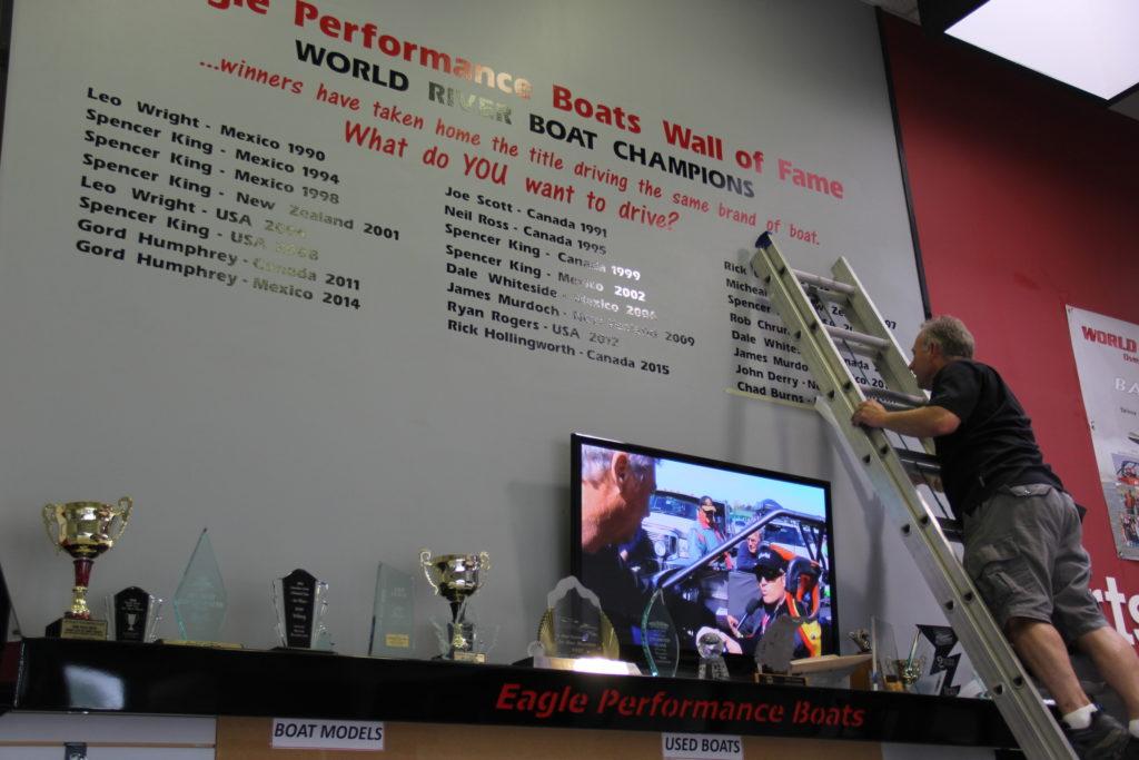 2016 World Jet Boat Champion Wall Of Fame Chad Burns